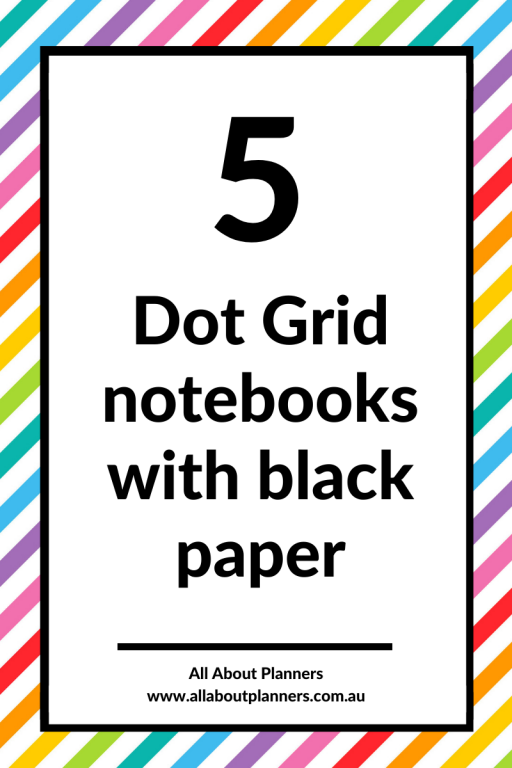 dot grid notebooks with black paper blackout journal archer and olive scribbles that matter all about planners