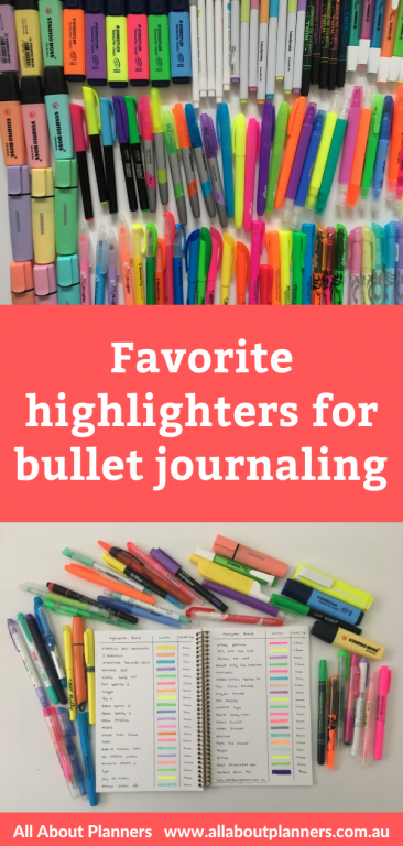 favorite highlighters for bullet journaling best brands dual tip 5mm thickness ghosting bleed through