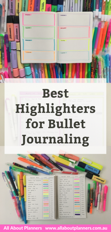 favorite highlighters for bullet journaling best brands dual tip 5mm thickness ghosting bleed through all about planners recommendations