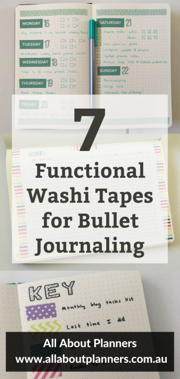 functional washi tape for bullet journaling days of the week color coding monthly calendars dividers color coded