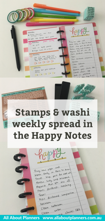 happy planner half sheet weekly spread stamps contact usa thin washi mambi quick easy bullet journal happy list