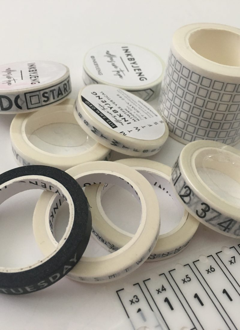 7 Useful washi tapes for bullet journaling