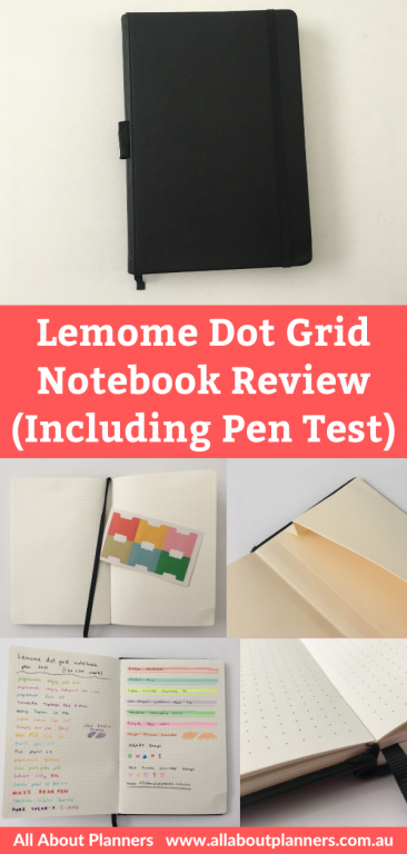 lemome dot grid notebook review pen testing 5mm grid hardcover pros and cons tab stickers video flipthrough all about planners