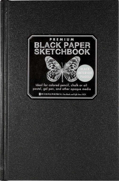 peter pauper press black paper notebook sketch plain notebooks for bullet journaling