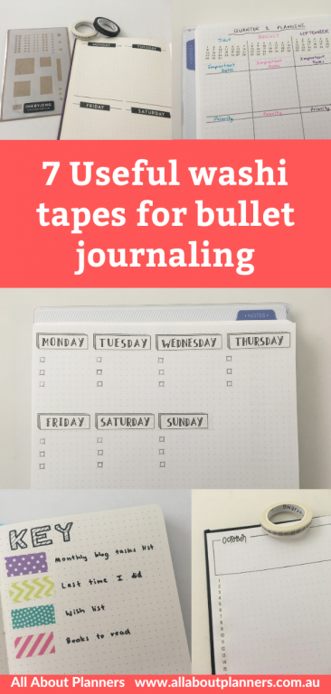 useful washi tapes for bullet journaling ink by jeng color coded patterns days of the week dates monthly calendar dates at a glance all about planners