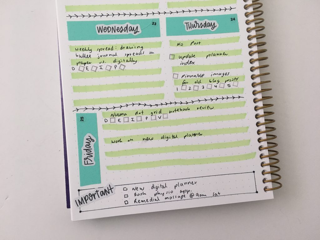 washi tape weekly spread highlighters checklist minimalist quick easy all about planners stencil checklist checkbox mambi text label stickers 1 page horizontal