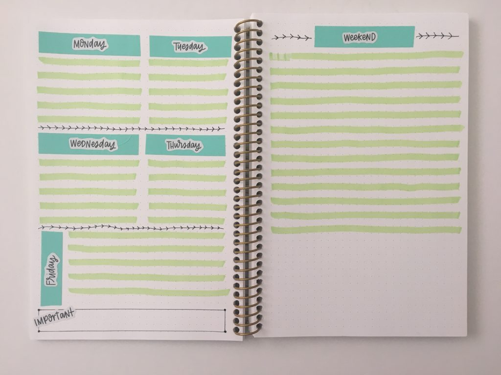 weekly spread highlighters and washi tape quick easy happy planner mambi text stickers all about planners