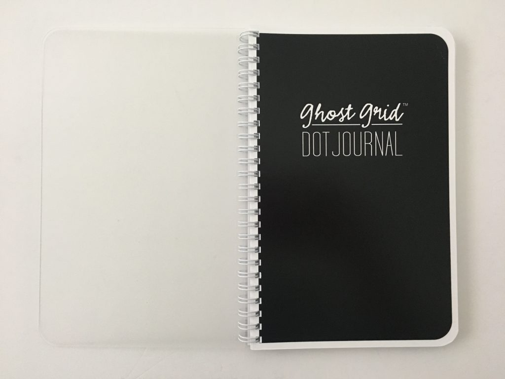 Ghost grid dot grid notebook coil bound lay flat bright white numbered pages 5mm index a5 page size_03