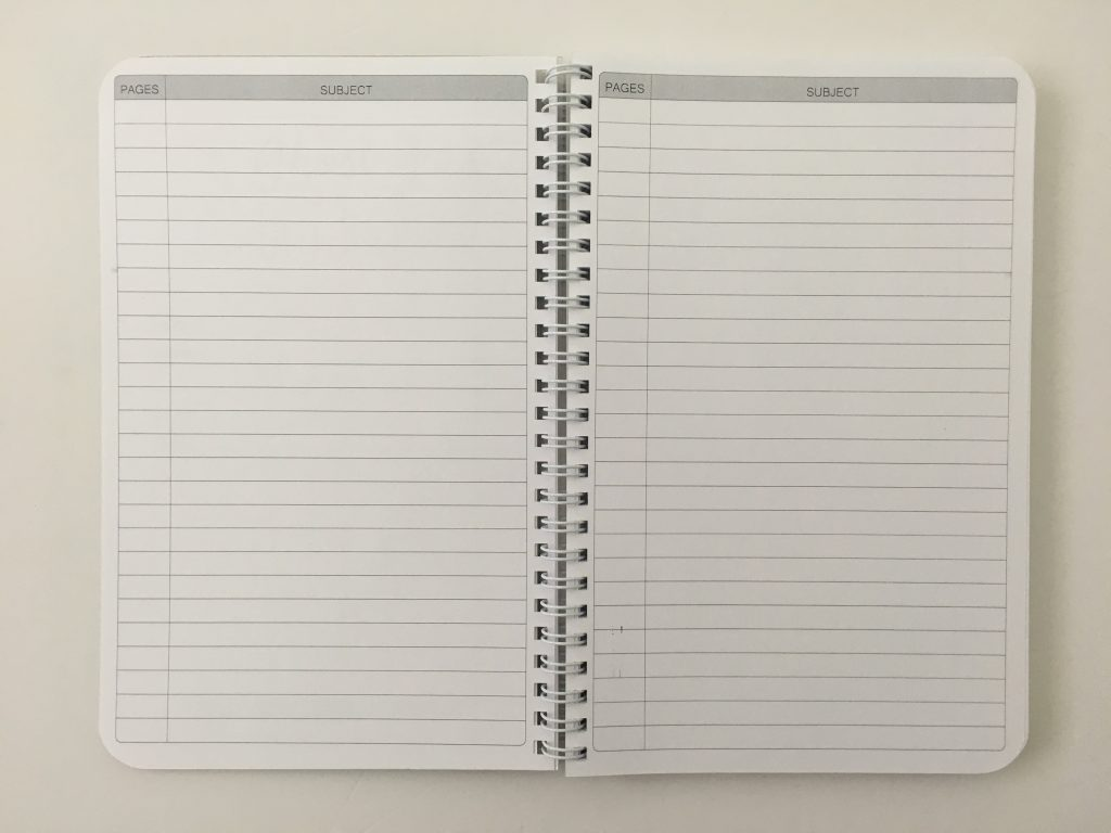 Ghost grid dot grid notebook coil bound lay flat bright white numbered pages 5mm index a5 page size_06
