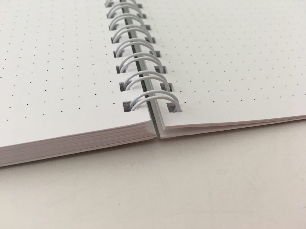 Ghost grid dot grid notebook coil bound lay flat bright white numbered pages 5mm index a5 page size_11
