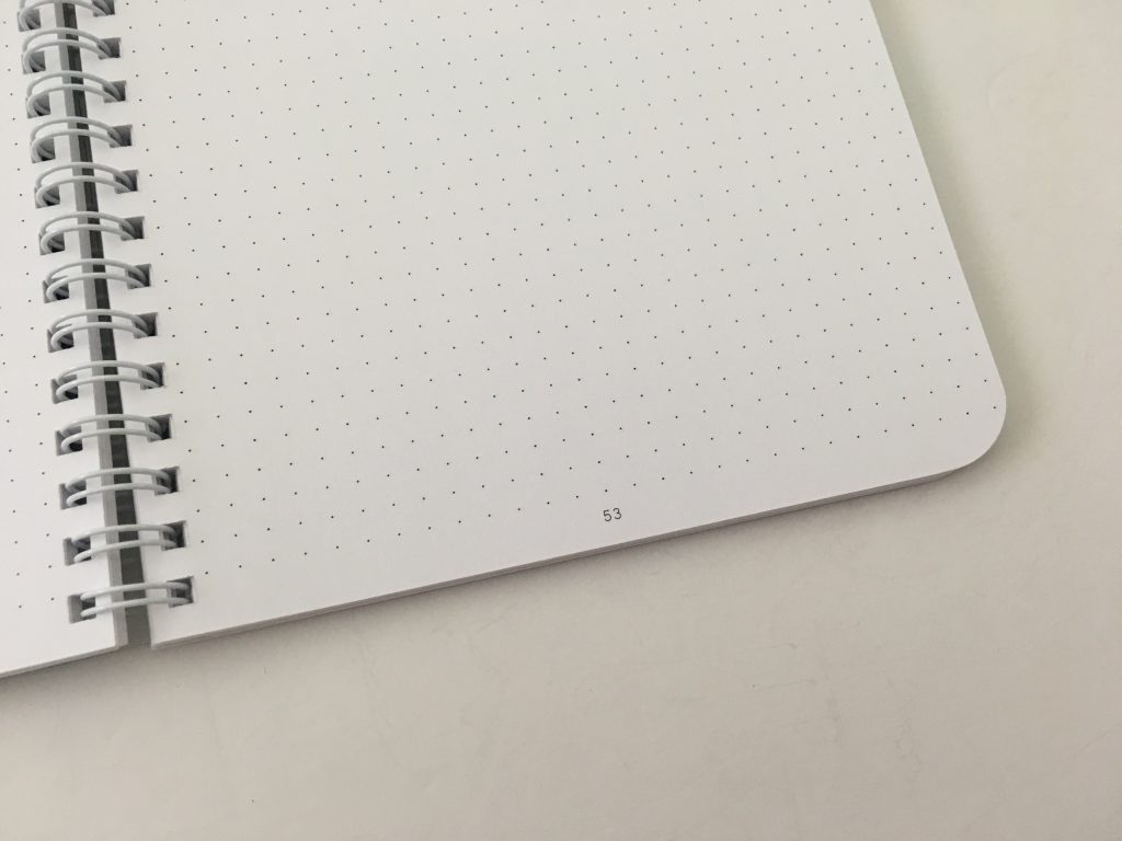 Ghost grid dot grid notebook coil bound lay flat bright white numbered pages 5mm index a5 page size_15