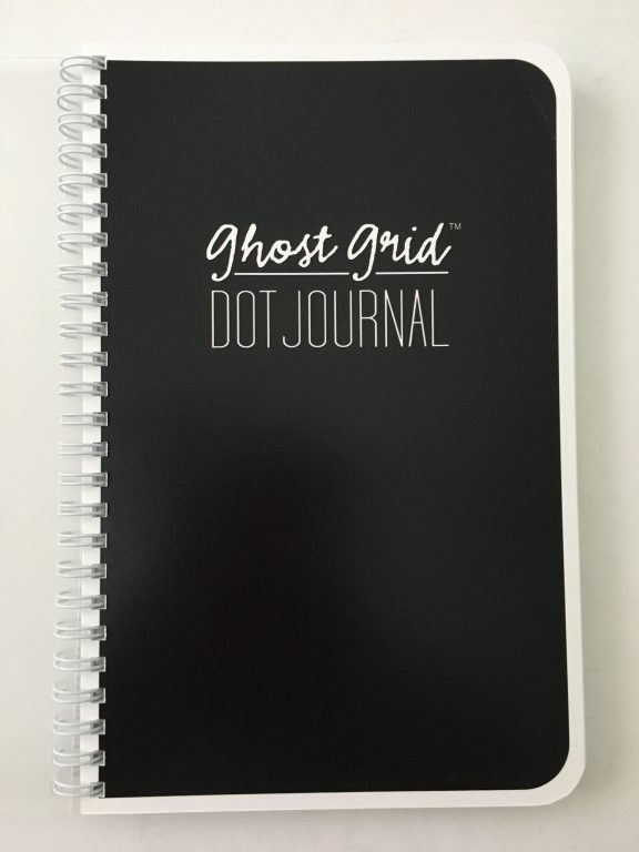 Ghost grid dot grid notebook coil bound lay flat bright white numbered pages 5mm index a5 page size_18