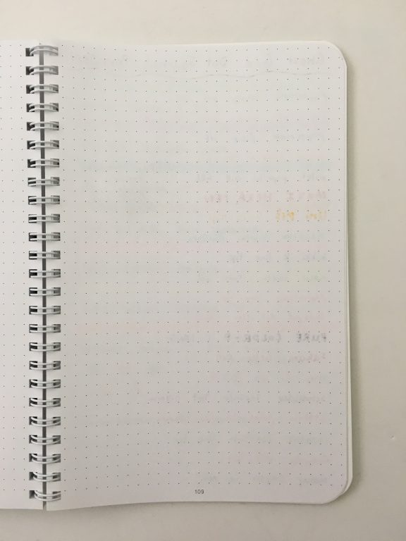 Ghost grid dot grid notebook coil bound lay flat bright white numbered pages 5mm index a5 page size_20