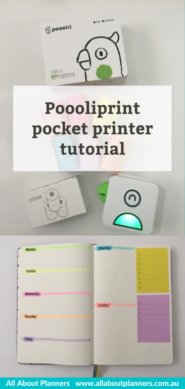 best tools for bullet journaling making your own stickers pooliprint pocket printer tutorial connects with iphone app print your own images graphics