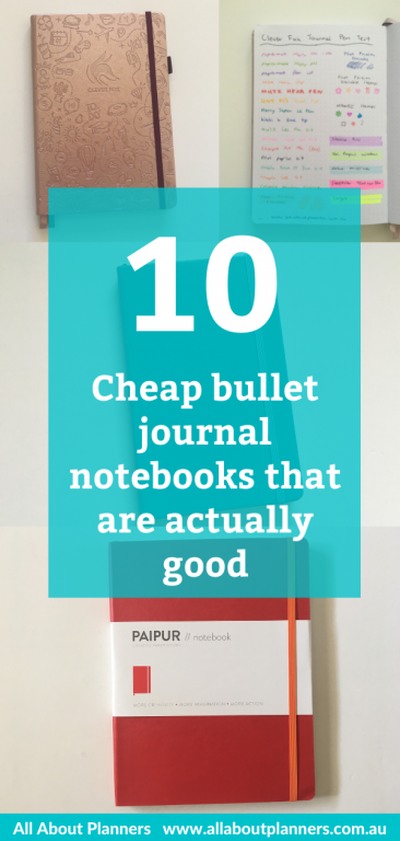 bullet journal notebooks cheap review pen testing ghosting page size cost less than 15 dollar USD