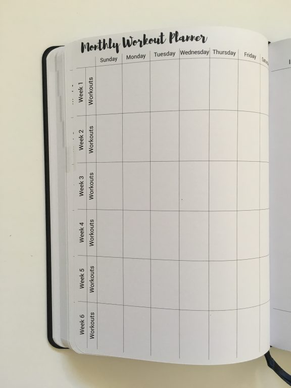 Prettysweeeet Planner review undated vertical hourly weekly planner goals monthly meals workout finances summary lined notes graph calendar stickers_23