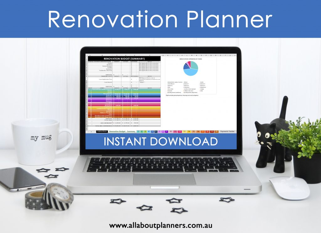 Renovation planning spreadsheets excel google sheets budget by room spending paint color quotes cost comparison