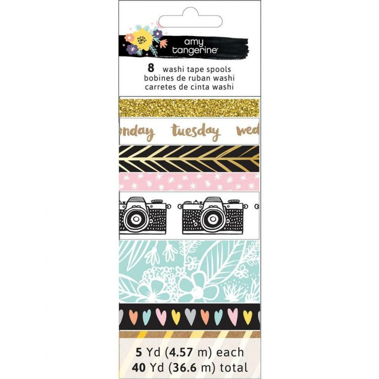 amy tangerine days of the week washi tape carefully crafted