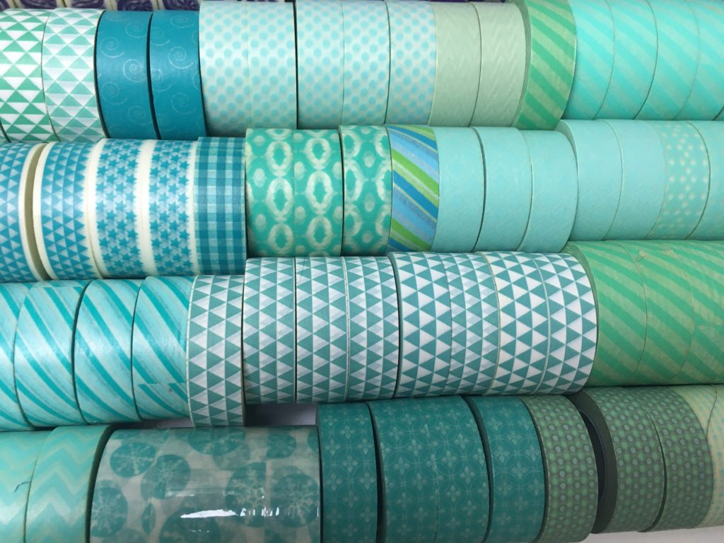 aqua washi tape collection all about planners carefully crafted washi organization color coded by drawer