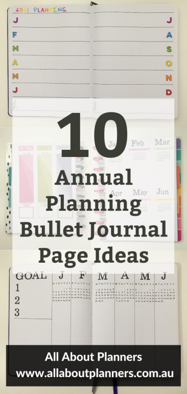 bullet journal page layout ideas bujo template inspiration minimalist quick simple easy dates at a glance monthly calendar yearly overview goal planning