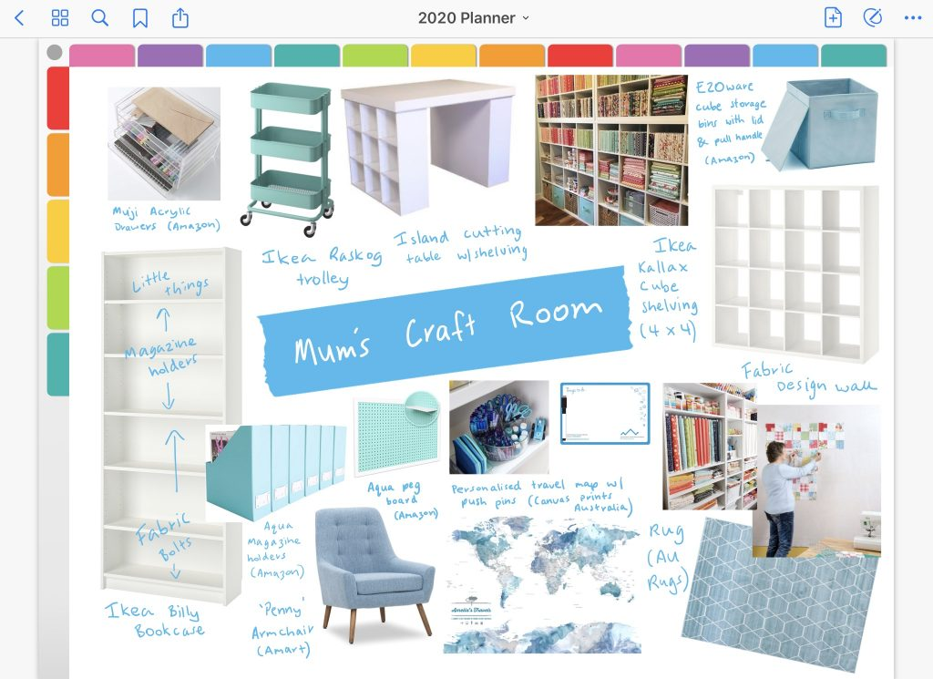 digital planning how to make a mood board in goodnotes digital planning notebook uses app ideas for ipad project planning craft room organization sewing room