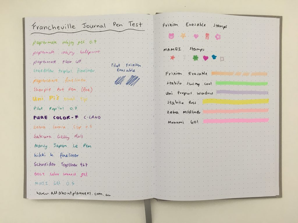 francheville dot grid notebook spotlight australia pen test bullet journal notebook less than $10