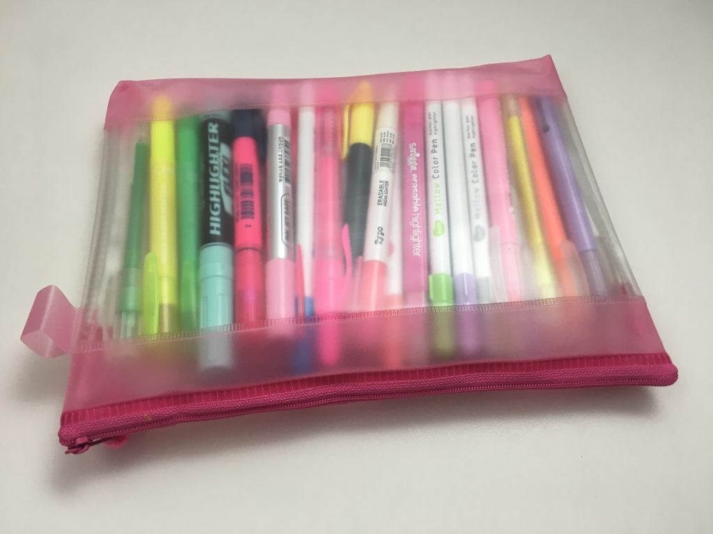 highlighter storage pens stationery organization tips planner supplies newbie beginner all about planners haul