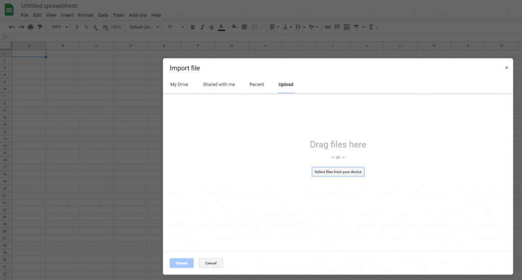 how to import a microsoft excel spreadsheet into google sheets 2