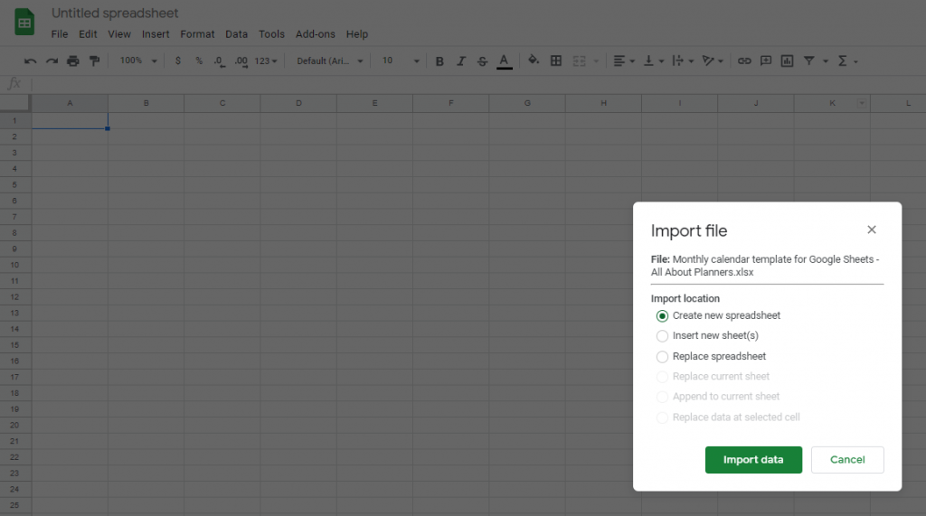 how to import a spreadsheet in google sheets tutorial for making a printable all about planners