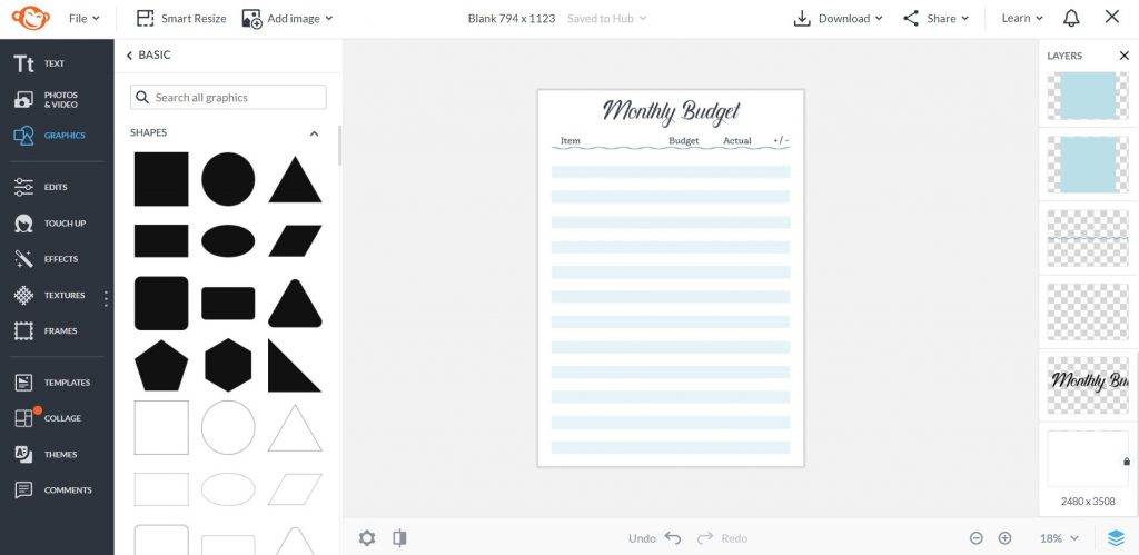 how to make a monthly budget printable picmonkey tutorial quick simple easy