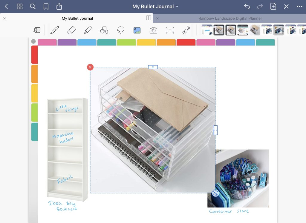 how to make a mood board in goodnotes tutorial for ipad simple quick easy import into digital notebook