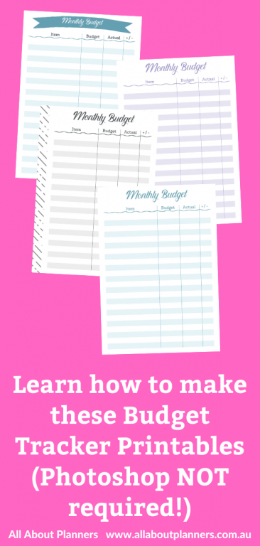 how to make a printable monthly budget tracker printable in picmonkey cheap graphic design software alternative to photoshop video tutorial all about planners