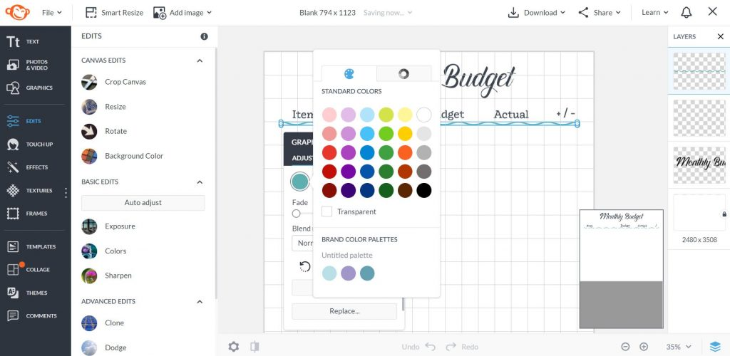 how to make a printable using picmonkey online tool quick easy tutorial custom colors branding