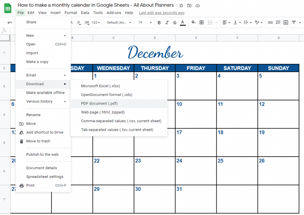 how to print to pdf from google sheets or export to excel tutorial for making printables