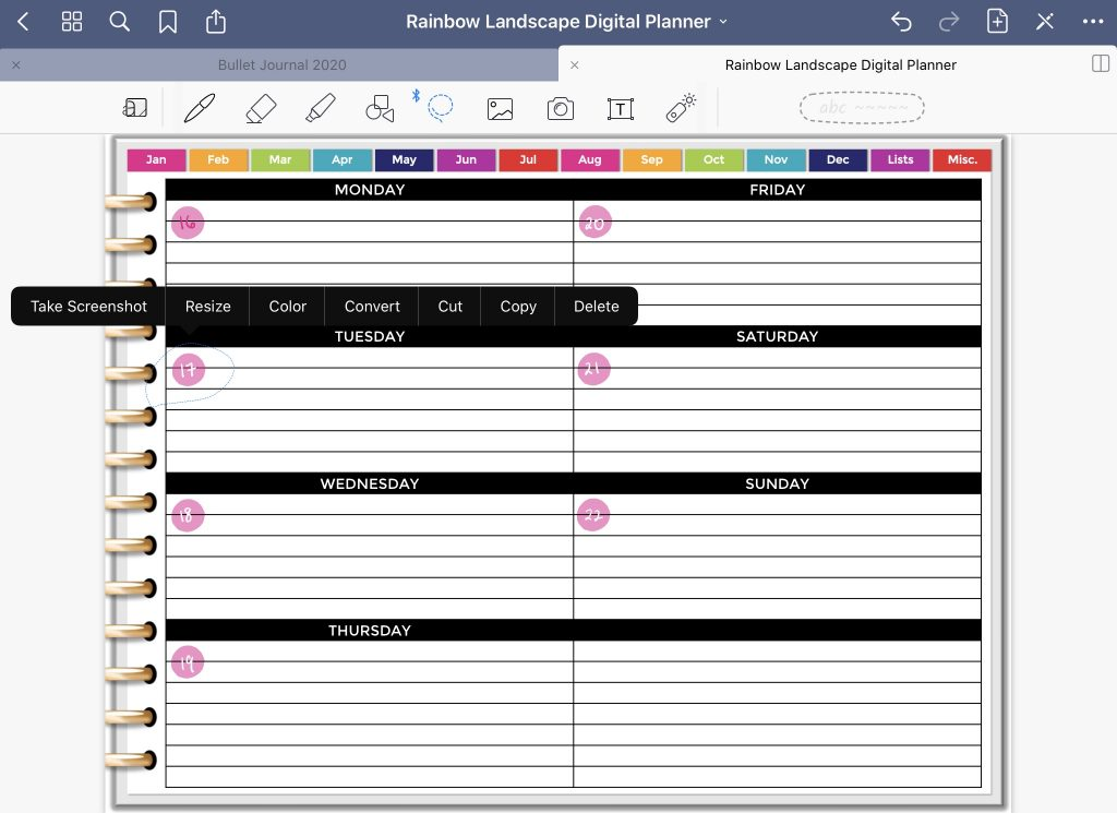 how to resize change colors in goodnotes simple quick easy digital planning app review pros and cons digital bullet journal all about planners