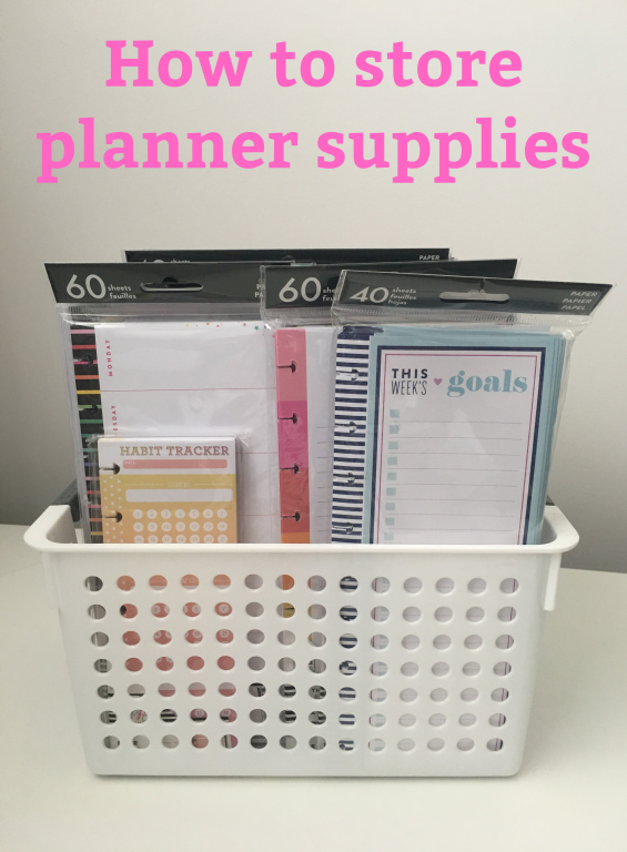 how to store planner supplies tips ideas craft room stationery organization happy planner inserts