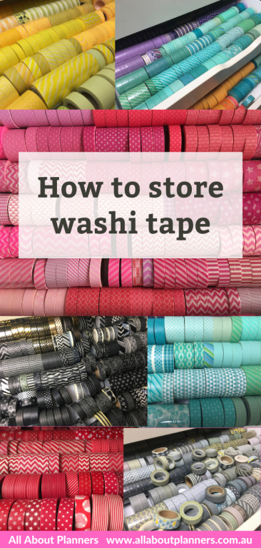 how to store washi tape storage ideas planner supplies organization tips craft small space favorite containers tips color coded all about planners