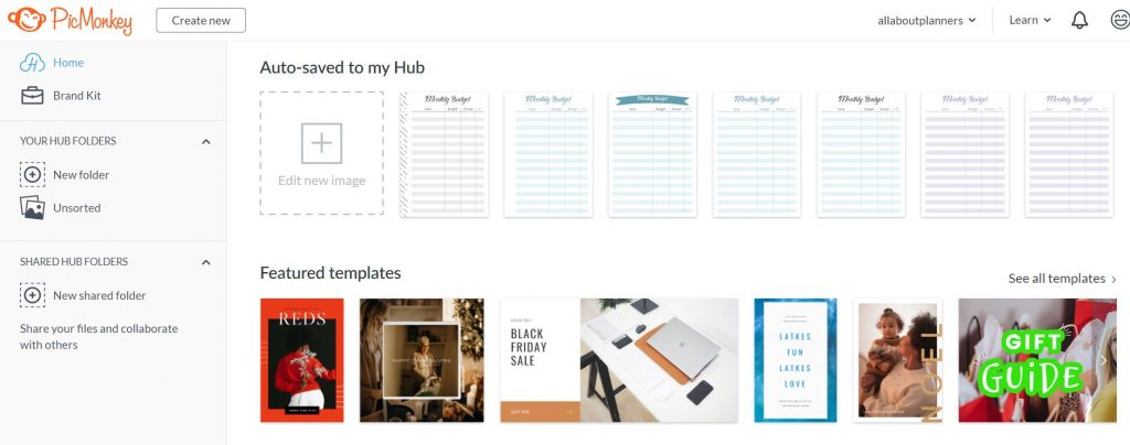 picmonkey how to make a printable tutorial all about planners video walkthrough
