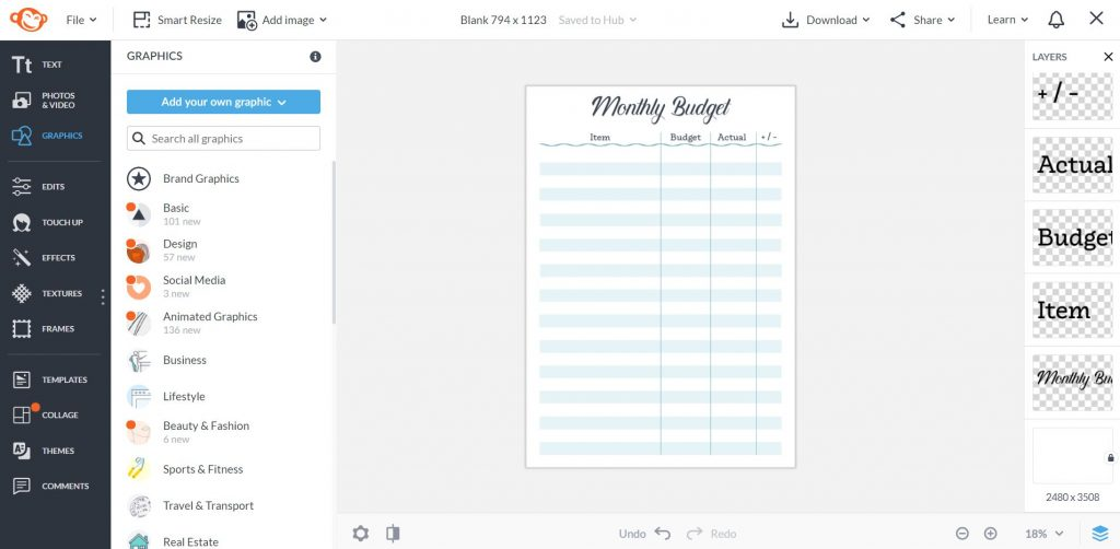printable monthly budget planner template made in picmonkey how to make your own printables without photoshop