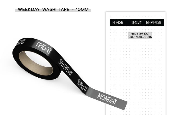 sunshine sticker co days of the week washi tape