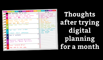 thoughts after trying digital planning for a month am i making the switch from paper rainbow digital weekly spread pros and cons goodnotes