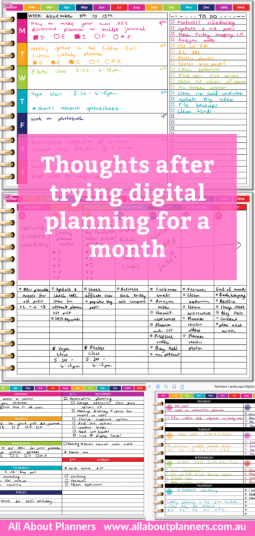 thoughts after trying digital planning for a month pros and cons digital versus paper planner rainbow ipad goodnotes