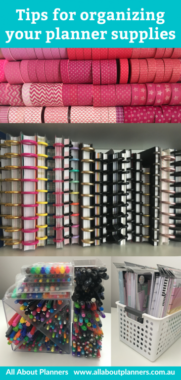 tips for organizing your planner supplies stationery craft room planners washi tape pens happy planner inserts discbound stencils stamps