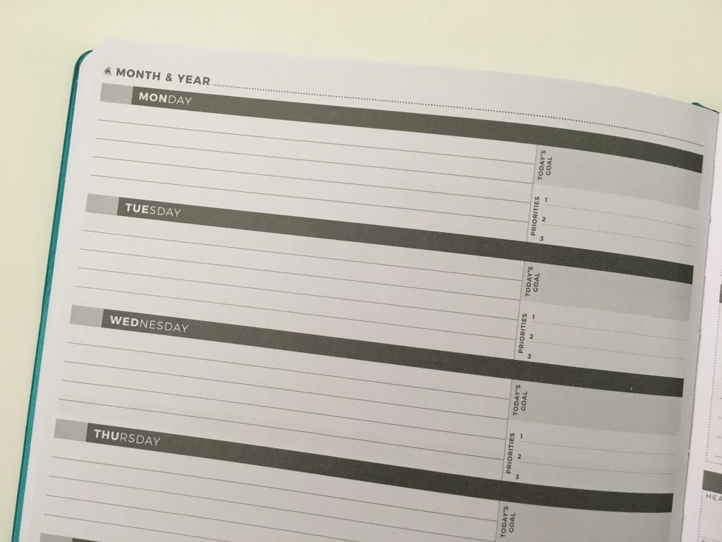 Clever fox pro weekly planner review affordable us letter page size functional layout goal planning bright white paper thick no ghosting video review_24