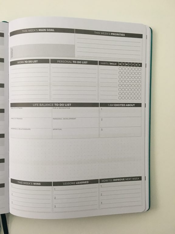 Clever fox pro weekly planner review affordable us letter page size functional layout goal planning bright white paper thick no ghosting video review_26