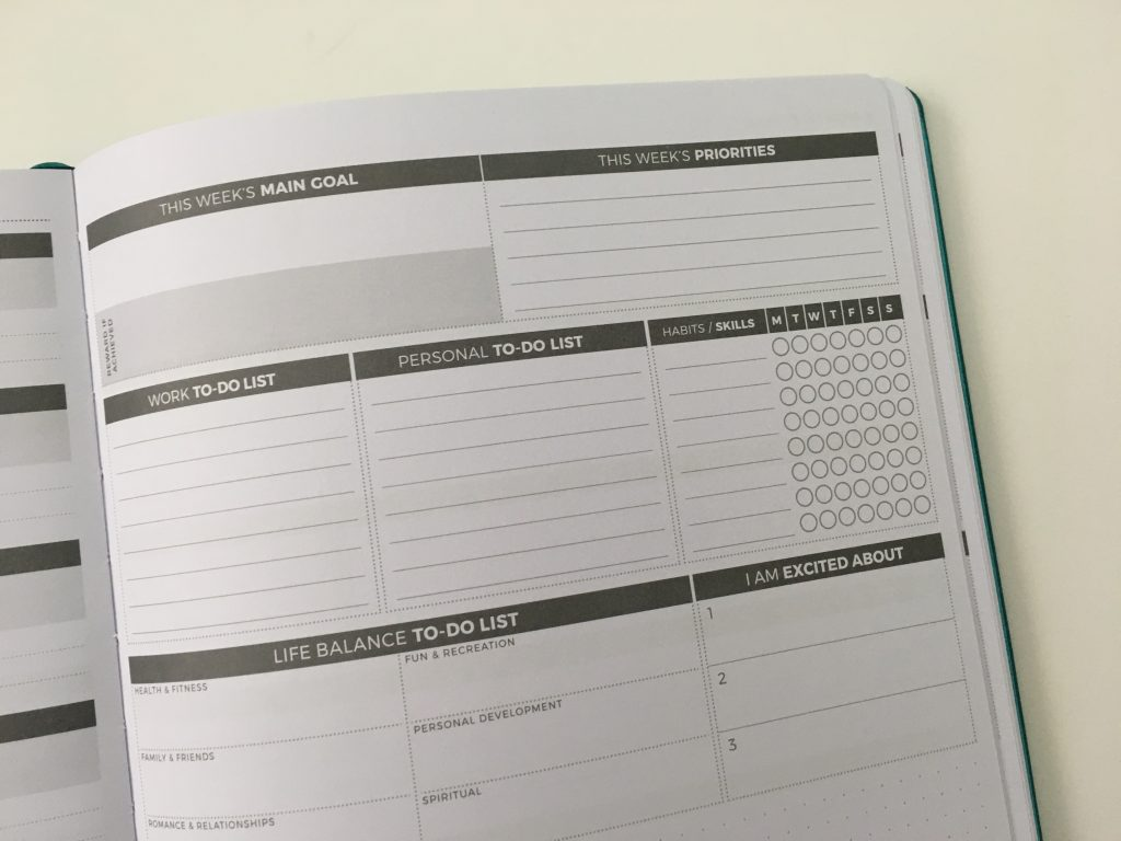 Clever fox pro weekly planner review affordable us letter page size functional layout goal planning bright white paper thick no ghosting video review_27