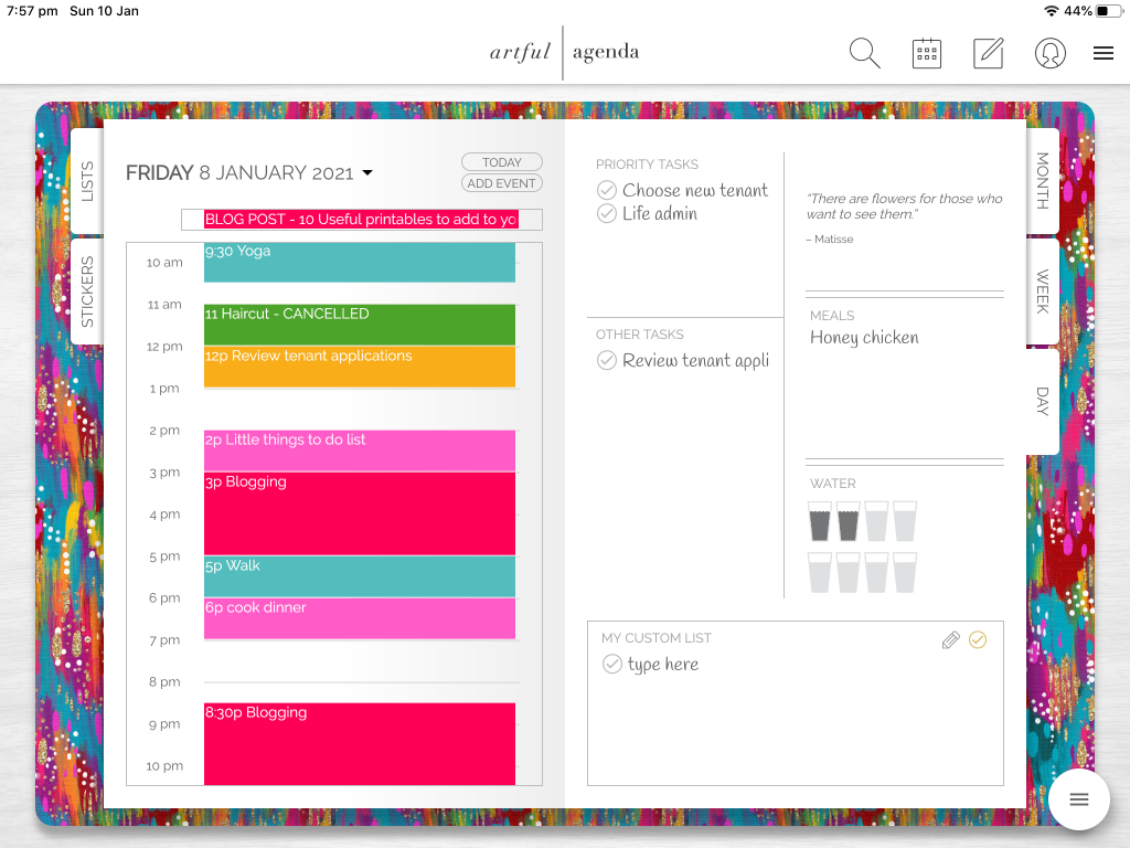 artful agenda daily planner review app pros and cons