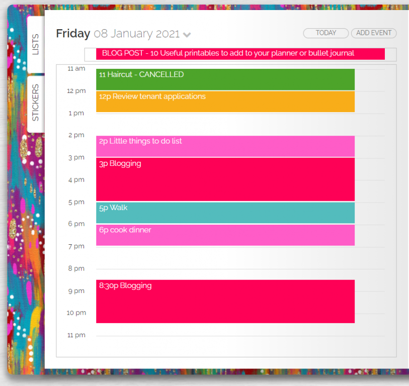 artful agenda daily spread pros and cons digital planning tool
