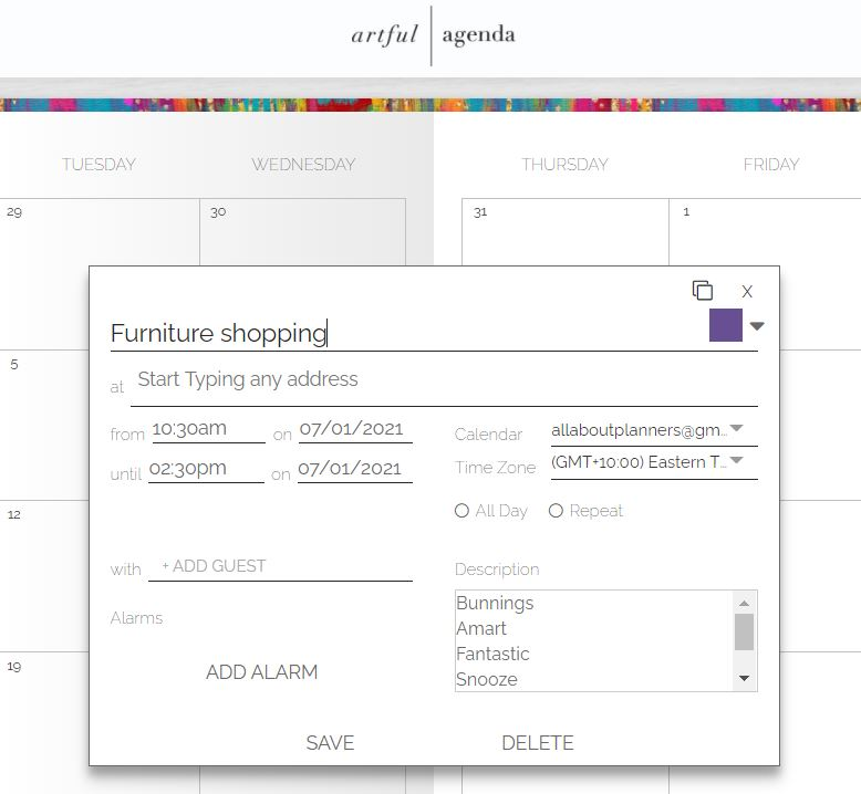 artful agenda how to add tasks color code digital planning apps tools alternative to goodnotes can use on your computer