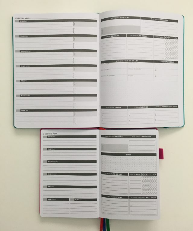 clever fox planner pro and weekly comparison monday week start dashboard layout to do list habit tracker functional layout lined goals